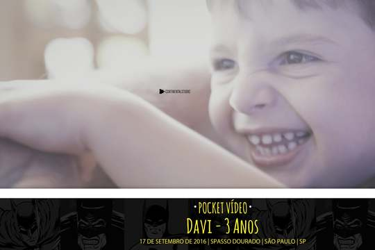 Capa do post Kids Pocket Video do Davi 3 anos